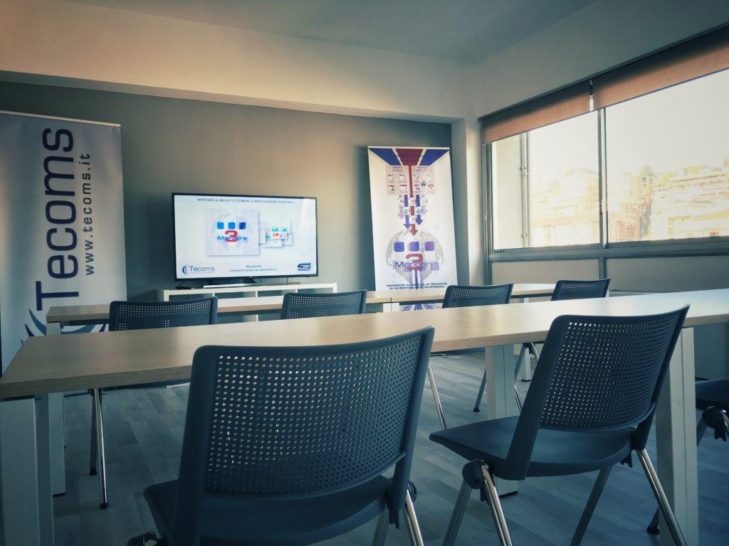 Sala formazione Tecoms Mercure analisi traffico telefonico